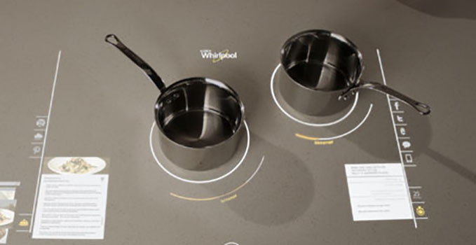 Interactive Cooktop smart appliance of the future
