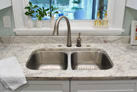 Clogged double basin sink