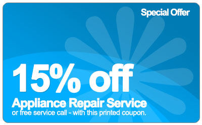coupon for %15 off cincinnati appliance repair
